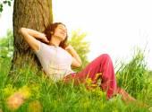 Woman Outdoors Enjoying Nature