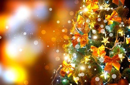 Christmas holiday blinking background.