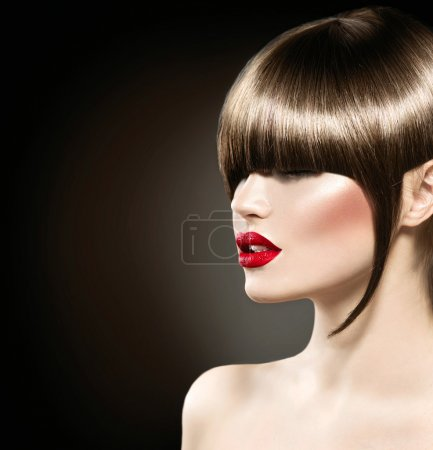 fashion model  with glamour haircut