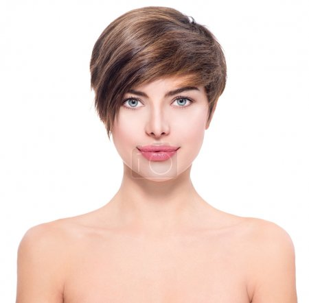 woman with short hair portrait