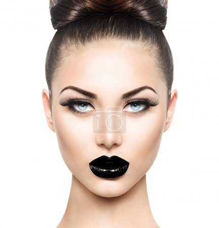 model girl with black make up