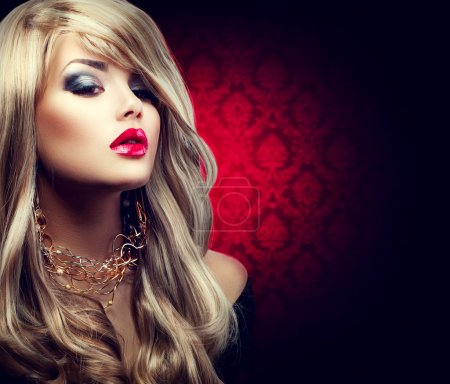 Photo for Beautiful sexy blond woman with long hair - Royalty Free Image