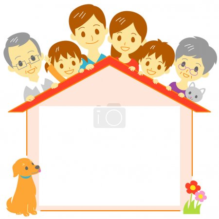 Family house copy space, blank space, vector file...