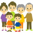 Three generation family, vector file...