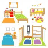 Bedroom childs room crib Japanese style room