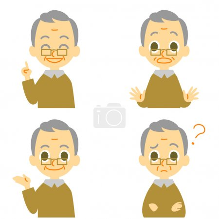 Old man expressions, guide, advice, speaking, surp...