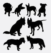 Dog pet animal silhouette 11