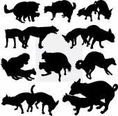 Dog pet animal silhouette 15