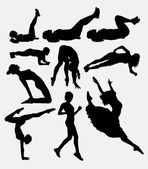 Pilates female sport activity silhouette 1 Good use for symbol logo web icon mascot sign sticker or any design you want Easy to use