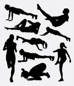 Pilates female training sport activity silhouette Good use for symbol logo web icon mascot sign sticker or any design you want Easy to use