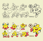 Superstar cartoon character icons