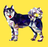 Siberian husky dog triangle low polygon style vector Good use for your symbol website icon logo mascot sticker or any design you want Easy to use