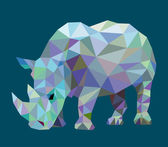 Rhinoceros animal triangle low polygon Nice and clean vector Good use for your symbol mascot website icon avatar sticker or any design you want Easy to use