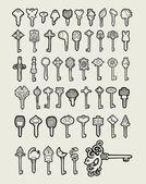Keys icon sketch vector 2