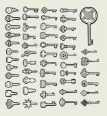 Keys icon sketch vector 1