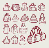 Hand drawing style Bags icon variant set Good use for icon symbol sticker design or any design you want Easy to use edit or change color