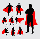 Male superhero pose flying standing silhouettes Good use for any design you want Easy to use