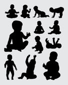 Baby activity silhouettes