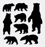 Bear wild animal silhouettes Good use for symbol web icons logo mascot or any design you want Easy to use