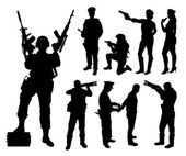 Police soldier military silhouettes