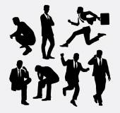 Businessman people action silhouettes