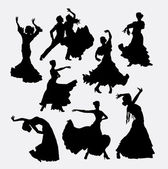 Flamenco dance silhouette Male and female dancer Good use for symbol logo web icon mascot game elements or any design you want Easy to use