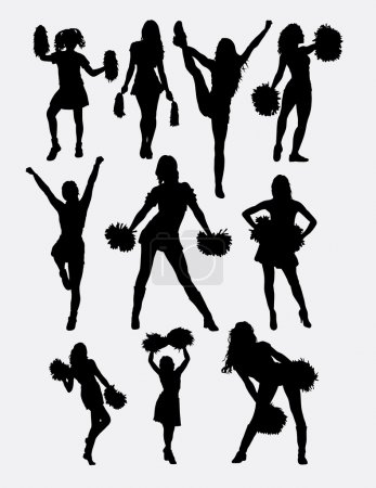 Cheerleader girl dance activity silhouette