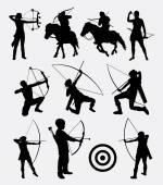 Archery dart people sport silhouette