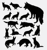 German shepherd pet dog silhouette