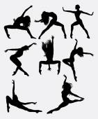 Beautiful dancer pose performing silhouette Male and female dance pose Good use for symbol logo web icon mascot game elements mascot sign sticker design or any design you want Easy to use