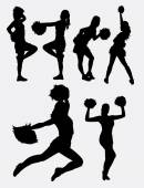 Cheerleader girl dancer activity silhouette