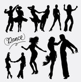 Tango salsa 4 couple happy dance event silhouette Good use for symbol logo web icon mascot sticker or any design you want Easy to use
