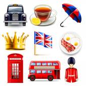 England icons vector set