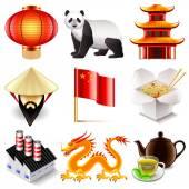 China icons vector set