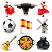 Spain icons vector set