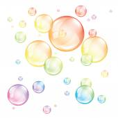 Colored bubbles isolated on white vector