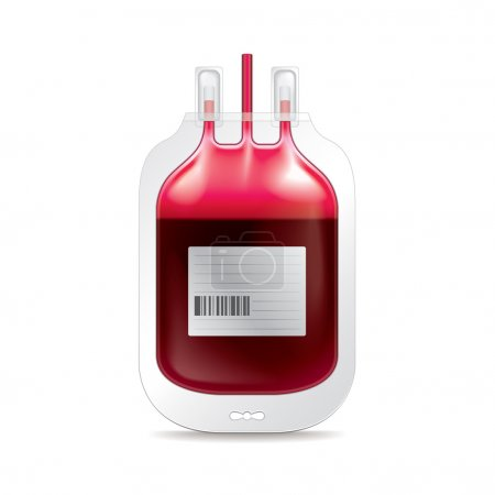 Donate blood isolated on white vector