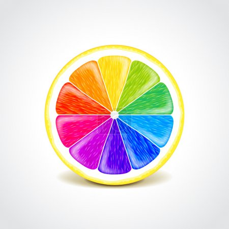 Colorful lemon creative concept vector