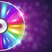 CD disk na hudební pozadí vektor