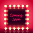 Coming soon concept with makeup mirror realistic v...