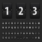 Flip black scoreboard letters numbers and symbols