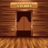 Swinging doors of saloon western background
