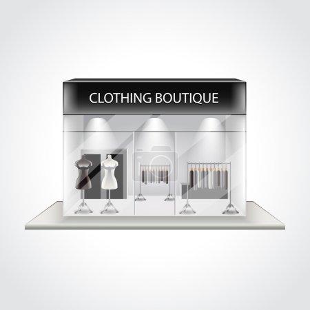 Illustration pour Boutique de vêtements bâtiment isolé haute illustration vectorielle détaillée - image libre de droit