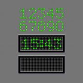 Scoreboard numbers isolated on grey vector