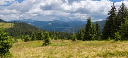 Incredibly beautiful panoramic views of the Carpathian Mountains.
