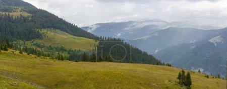 Incredibly beautiful panoramic views of the Carpathian Mountains.