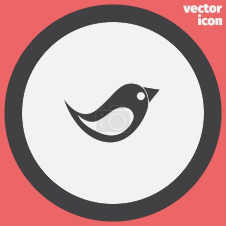 Illustration for Little bird vector icon - Royalty Free Image