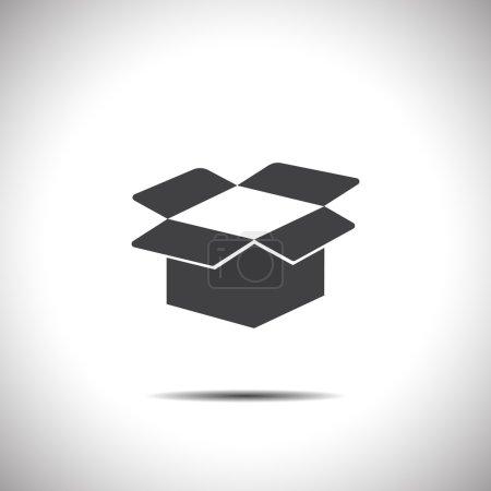 Ilustración de Icono de vector abierto de caja de cartón - Imagen libre de derechos