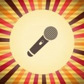 Klasické ikonu mikrofonu vektor