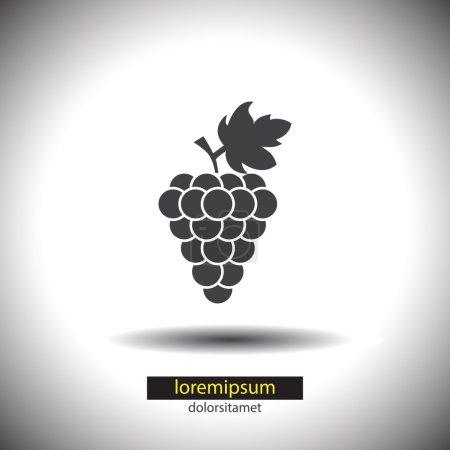 Illustration pour Icône de vecteur de raisin - image libre de droit